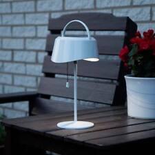 Lámpara de mesa solar al aire libre blanco Cálido