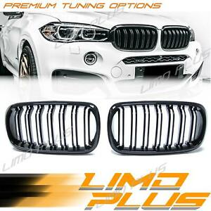 Glossy Black Front Hood Bumper Kidney Grille Grill for BMW X5 X6 F15 F16 fg105