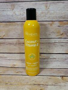 Renpure Dry Shampoo Coconut & Vitamin E Hydrate Replenish Removes Dirt Oils 8 oz