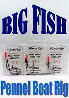 5 X BIG FISH Boat Fishing Pennel Rigs HEAVY MONO Cod Tope Conger Sea Fishing