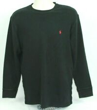Polo Ralph Lauren Sleepwear Mens Black Long Sleeve Sleep Shirt Size XL