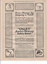 WW1 ORIGINALE Punch London Charivari annunci VALET AUTO Cinghia Razor 1918