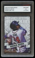 RONALD ACUNA JR. 2018 LEAF PRIZED 1ST GRADED 10 ROOKIE CARD RC ATLANTA BRAVES