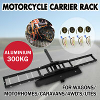 300kg Motorcycle Carrier Hauler Hitch Mount Rack motorbike Anti Tilt Tow Bar