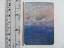 Large Vintage Acard Stickermania Unicorn Pegasus Glossy Sticker - Blue Tone