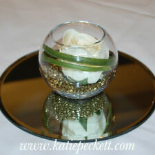 Glass Handmade fish bowl round Vase Terrarium 18 cm planter centre pieces