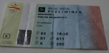 old ticket Olympic Barcelona 1992 Waterpolo Australia Hungary Spain Holland