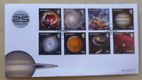 2015 JERSEY HUBBLE TELESCOPE IMAGES SET OF 8 STAMPS FDC FIRST DAY COVER