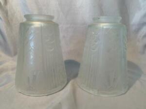 Muller Freres Art Deco Glass Light Shades Chandelier NIce