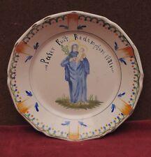 magnifique ANCIENNE assiette faience Nevers auxerrois patronymique  st marie