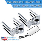 Aluminum Wakeboard Tower Rack Combo Water Ski Boardd Holder and Rearview mirror