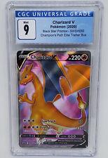 Pokemon 2020 Champions Path Charizard V Holo SWSH050 CGC 9 Gem Mint Psa