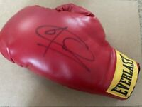 Signed Joe Calzaghe Autograph Everlast Boxing Glove + Proof Italian Dragon