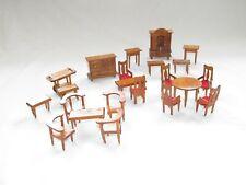 """Puppenhaus """"Kirsche"""" 20 Teile Wohnzimmer Suite Miniatur Möbel Set Typ8-20"""