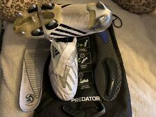 Adidas Predator Powerswerve X-TRX SG, size UK 9, White/Black/Red/Grey