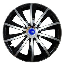 4x15 Wheel trims Wheel covers fit Fiat with 15'' wheels black - silver