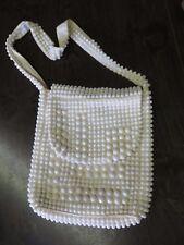 Vintage 60s MOD Handbag Purse Candy Beads Beaded Hong Kong Shoulder Hippy Hobo