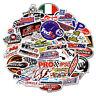 50Pcs Auto Car Parts NHRA Drag Racing Lot Vinyl Graphics Stickers Decals Sheet