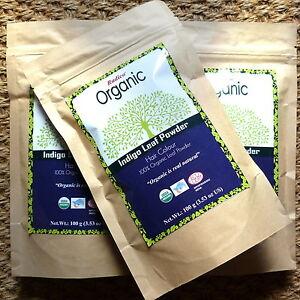 2 x 100g Radico Organic Indigo Leaf Powder reines Bio-Pulver vegan Naturkosmetik
