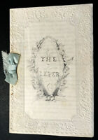 1850 - THE LEPER. A charming manuscript of this American poem by Kate Southern