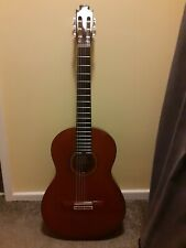 More details for vincente sanchis classical guitar. brazilian rosewood back and sides, cedar top.