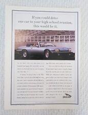 1993 Jaguar Car Auto Blue Convertible XJS Art Photo Print Ad