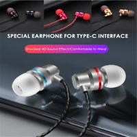 Type C USB-C In-Ear Earphone Headset Headphone With Wirecontrolled Mic Fashion