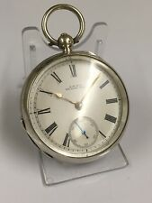 Antique 19th C, Sterling Silver Keywind Waltham Pocket Watch 18s , Working 👀