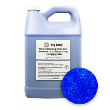 """1 Gallon(7.5 LBS) """"Dry & Dry"""" Premium Blue Indicating Silica Gel Desiccant Beads"""