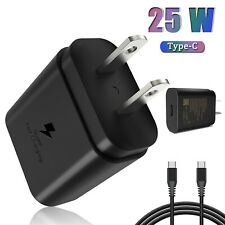 25W Type USB-C Super Fast Wall Charger For Samsung Galaxy S21 Ultra/FE,Z Fold 3