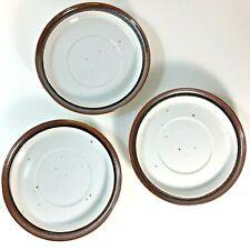3 Ranmaru Japan 1804 Saucers Rimmed Speckled Stoneware Vintage