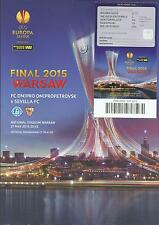 2015 Europa League Final Dnipro v Sevilla UEFA Cup Programme + Ticket