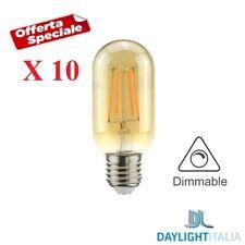 X10 LAMPADINE LED DIMMERABILI 4.5W 2000K VINTAGE ATTACCO E27 FILAMENTO T45 A60