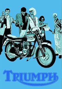 1960's Triumph motorcycles poster