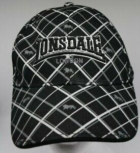 Lonsdale London Adjustable Embroidered Cap/Hat - Black - GC