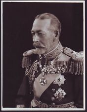 FINE ORIGINAL BLACK & WHITE PHOTO OF KING GEORGE V BY VANDYK QUEEN MARY