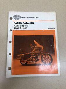 OEM Factory Harley Davidson FXR Models 1982 & 1983  Parts Catalog Book Manual
