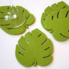 Fabric Place Mats Home Kitchen Coasters Creative Leaf Designs Pads Eco-friendly