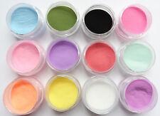 Acryl Pulver Set 12 Farben Acrylpuder Acryl-Farbpulver