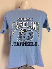 Vtg 80s North Carolina Tarheels T-Shirt Blue S/M Unc College University 50/50