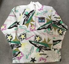 MASER Women's 1/2 ZIP MULTICOLOR- MOCK T-NECK SKI Long Sleeves Shirt Size 10 EUC