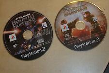 2 Playstation 2 PS2 Spiel CDs nur Star Wars Bounty Hunter + Episode III Rev Sith