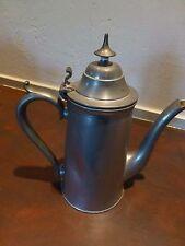 Excellent Antique / vintage pewter teapot [Y7-W7-A8]
