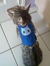 LAND O' BURNS BENGALS CAT WALKING JACKET ROYAL BLUE with CAT APPLIQUE - LARGE