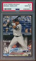2018 Topps Holiday Miguel Andujar RC Card #14 #HMW14 PSA 10 Gem Mint Rookie NYY