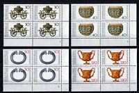Bund 897 - 900 VB Eckrand Viererblock postfrisch alle mit Formnummer FN Ecke 4
