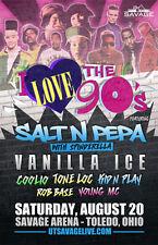 I LOVE THE 90'S 2016 TOLEDO CONCERT POSTER: Vanilla Ice, Salt N Pepa, Coolio