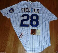 PRINCE FIELDER AUTOGRAPHED AUTHENTIC THROWBACK MILWAUKEE BREWERS MLB JERSEY GAI