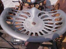 Vintage Original Tractor Zehrs Repair Grabil In Cast Iron Seat Pan For Ac Ih Jd