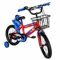 Kids Bike Boys Mountain Bikes Unisex Children Cycling Blue Bicycle Stabiliser
